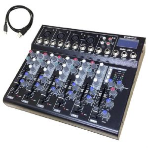 Citronic CM6-LIVE 6 Channel Live + Studio Mixing Desk Mixer + USB + SD + Effects